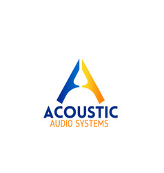 acoustic audio system emblem for company branding vector image
