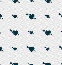 Arrow heart icon sign Seamless pattern with vector image