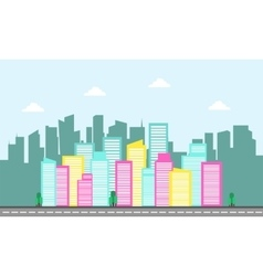 Backgrounds city landscape flat vector