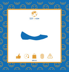 ballerina flats - women shoe the silhouette vector image