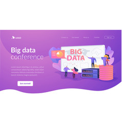 big data conference landing page template vector image
