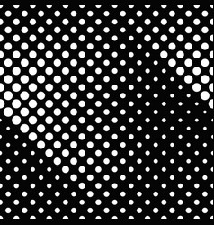 black and white abstract seamless dot pattern vector image