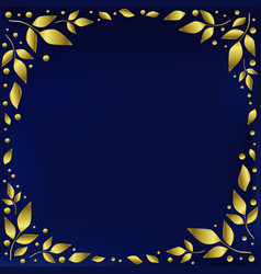 Blue background stylized as blue velvet decorated vector