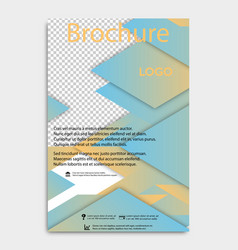 Brochure flyer design layout template size a4 vector