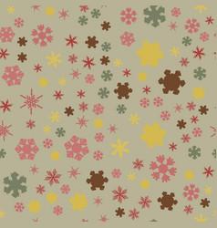 chunky snowflakes seamless 02 vector image