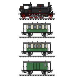 Classic passenger train vector