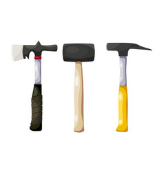 color image a set hammers on a white vector image