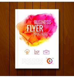 Colorful Business background watercolor stain vector image