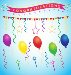 Congratulations party vector image