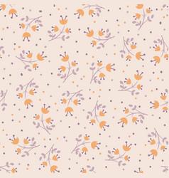Cute autumn flower seamless pattern vector