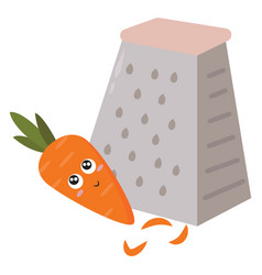 cute little carrot on white background vector image