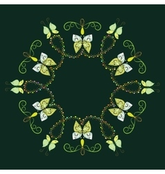 Decorative frame from abstract butterflies vector image vector image