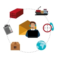 Delivery and logistics business vector