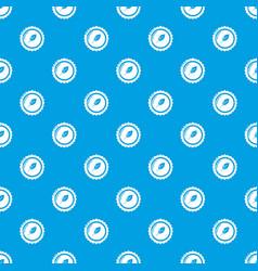 Dietary drink cap pattern seamless blue vector