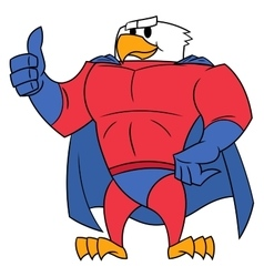 Eagle superhero thumb up gesture vector