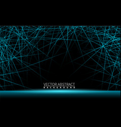 Effect shiny neon blue line realistic elements vector