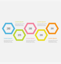five step timeline infographic colorful big vector image