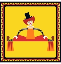 Funny clown performs big splits vector image