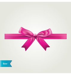 Glamour pink bow isolated vector