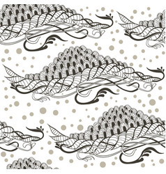 Hand drawn seamless pattern with abstract doodles vector