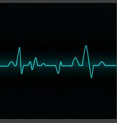 Heart beat cardiogram - blue vector