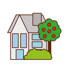 House tree residence property real estate vector