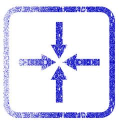 Impact arrows framed textured icon vector