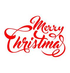 inscription marry christmas vector image