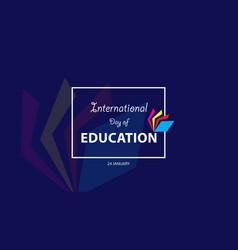 International day education vector
