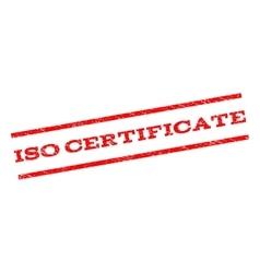 ISO Certificate Watermark Stamp vector