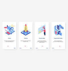 isometric business startup technology ux ui vector image