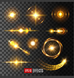 light flash effect icon or lens flare shine vector image