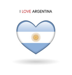 Love argentina symbol flag heart glossy icon vector