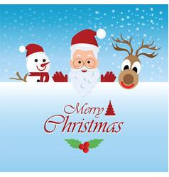 Merry christmas greeting card with christmas vector