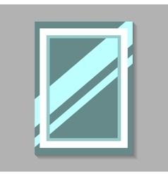 Mirror isolated on gray vector