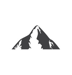 mountain icon design template isolated vector image