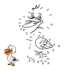 numbers game pelican vector image
