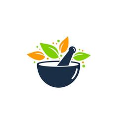 plant medicine logo icon design vector image