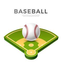 realistic baseball ball for betting promo vector image