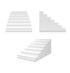 realistic stairs vector image