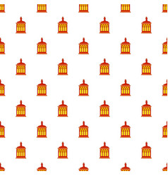 Red and yellow turkish lantern pattern vector