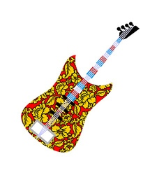 Russian national guitar Musical instrument and vector image vector image