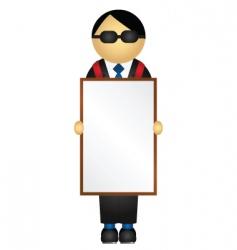 sandwich board vector image