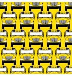 School bus pattern vector image