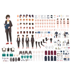 Secretary woman creation set or diy kit vector