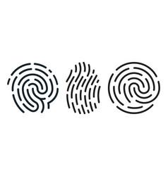 set fingerprint icons vector image