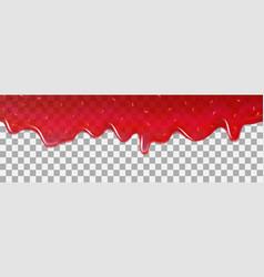 strawberry background jam dripping drop splash vector image