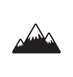 Stylish black and white icon Canadian mountain vector