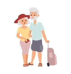 Summer old couple people vector