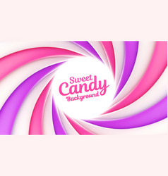 Sweet candy background with place for your content vector